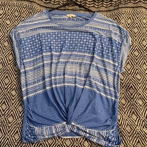 Blue and White Lucky Brand Ladies Top